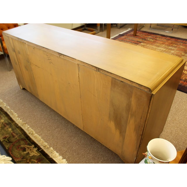 Brown Mid-Century Modern Paul Laszlo Credenza Sideboard Buffet Cane and Wood, 1950s For Sale - Image 8 of 9