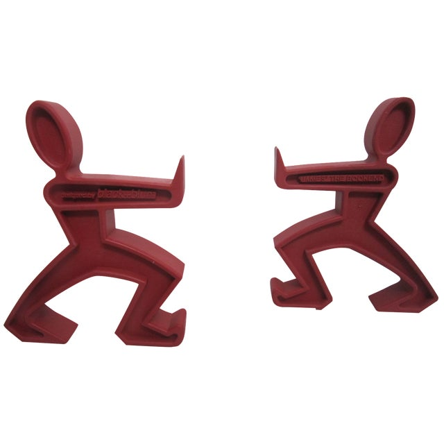 Keith Haring Style Bookends - A Pair - Image 1 of 4
