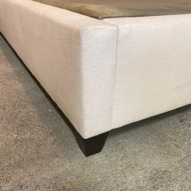 Beige California King Nathan Anthony Brownstone Upholstered Bedframe For Sale - Image 8 of 11