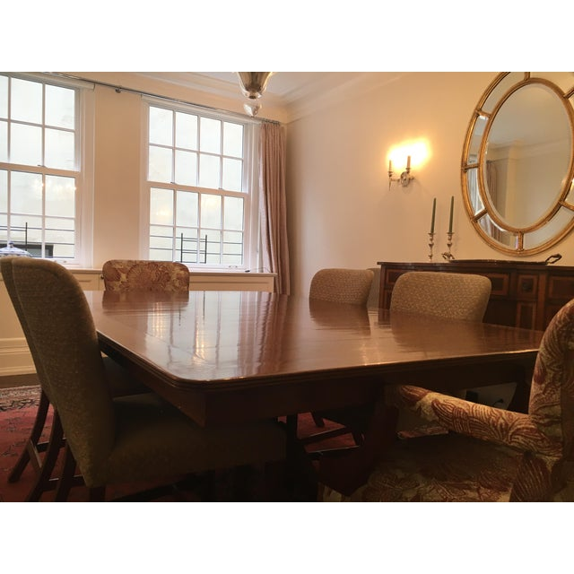 Wood Rose Tarlow Custom Pickwick Dining Table For Sale - Image 7 of 9