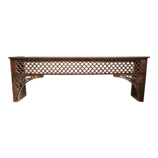 Long Architectural Moulding Console Table For Sale