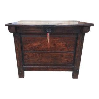 Antique Asian Storage Table or Bin Elmwood For Sale