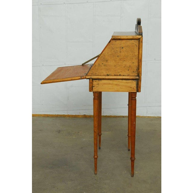 19th Century Diminutive Pine Slant Front Desk For Sale In San Francisco - Image 6 of 11