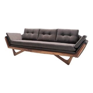 Mid Century Solid WalnutTrim Gondola Sofa- Adrian Pearsall Style For Sale