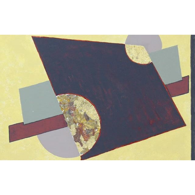 "Abstract ""Trapezoid"" Original Collage Painting For Sale - Image 3 of 4"