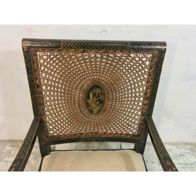 Asian Antique Chinoiserie Arm Chairs - a Pair For Sale - Image 3 of 7