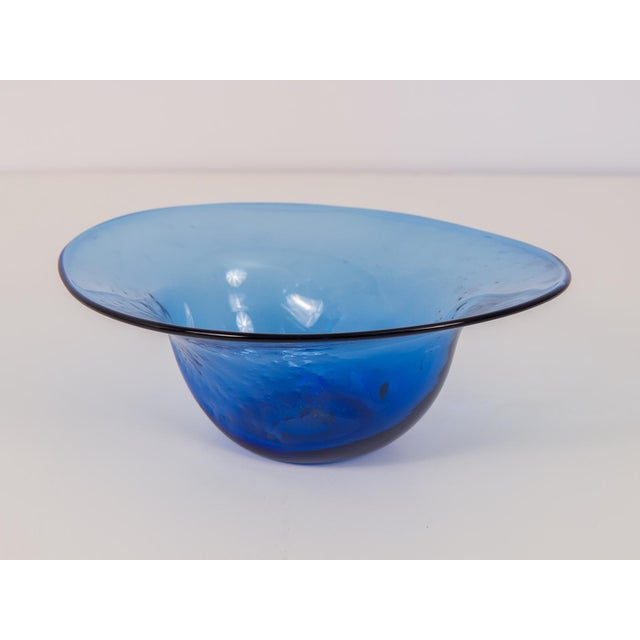 Dimpled Blenko Glass Bowl - Image 2 of 9
