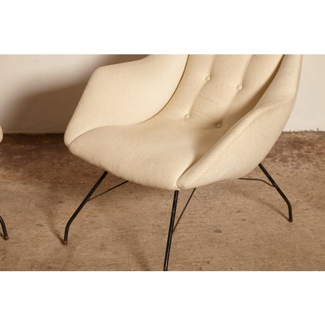 1950s Vintage Forma Brazil Carlo Hauner and Martin Eisler Shell 'Concha' Lounge Chairs - a Pair For Sale - Image 12 of 13