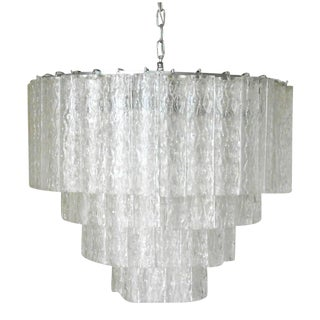 Ovalini Murano Tubes Chandelier by Venini For Sale