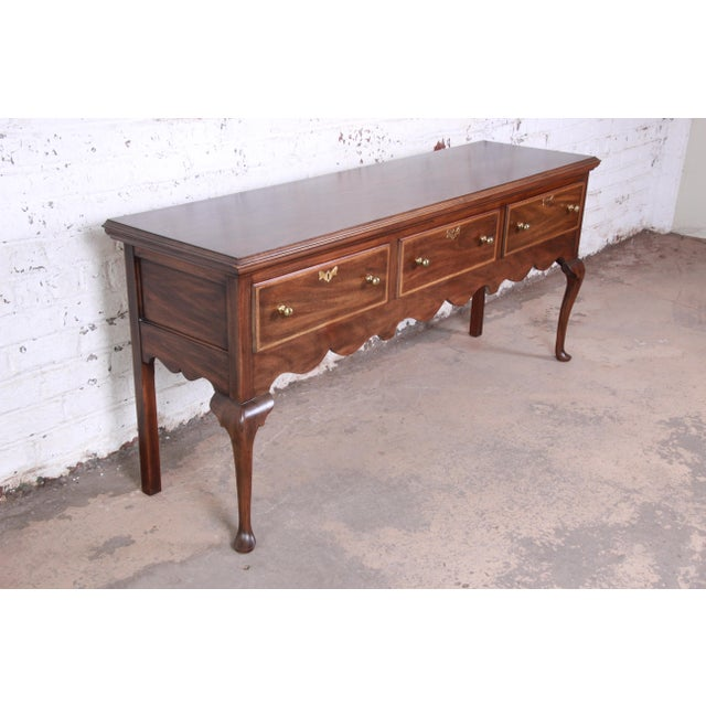 Henkel Harris Mahogany Queen Anne Sideboard Credenza For Sale - Image 13 of 13