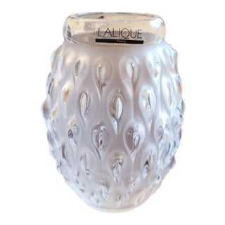 1990s Lalique Small Vase For Sale
