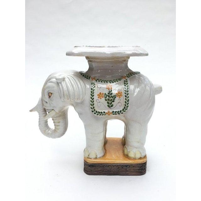 Large Italian Terra Cotta Elephant Garden Stool For Sale - Image 13 of 13