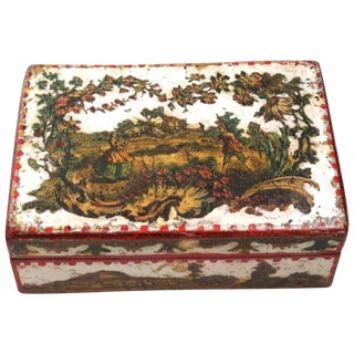 18th Century Italian Arte Povera Box For Sale
