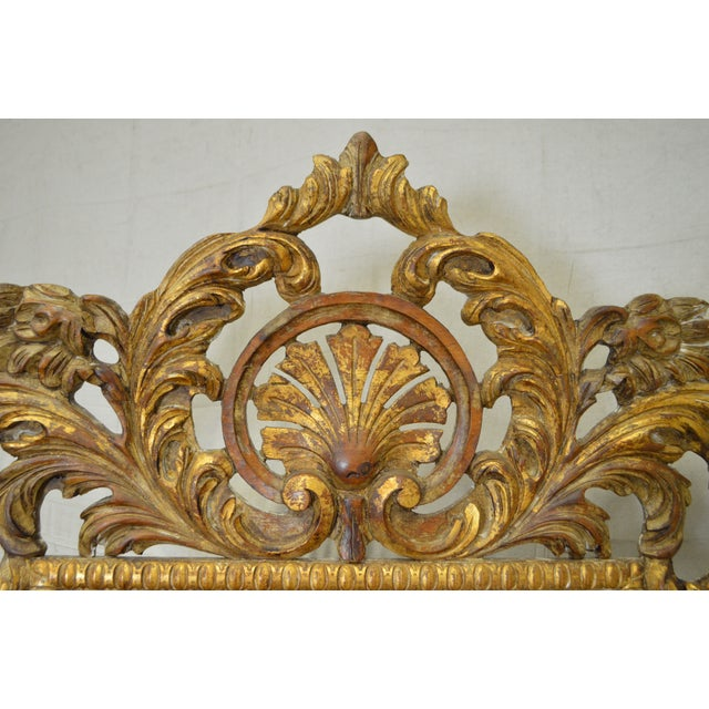Rococo Style Large Giltwood Beveled Wall Mirror - Image 7 of 10