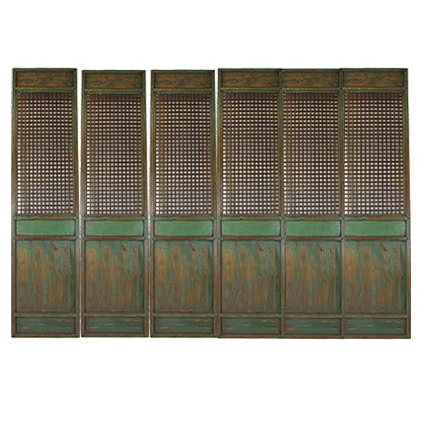 1900s Antique Chinese Lattice Panels- Set of 6 For Sale - Image 9 of 9
