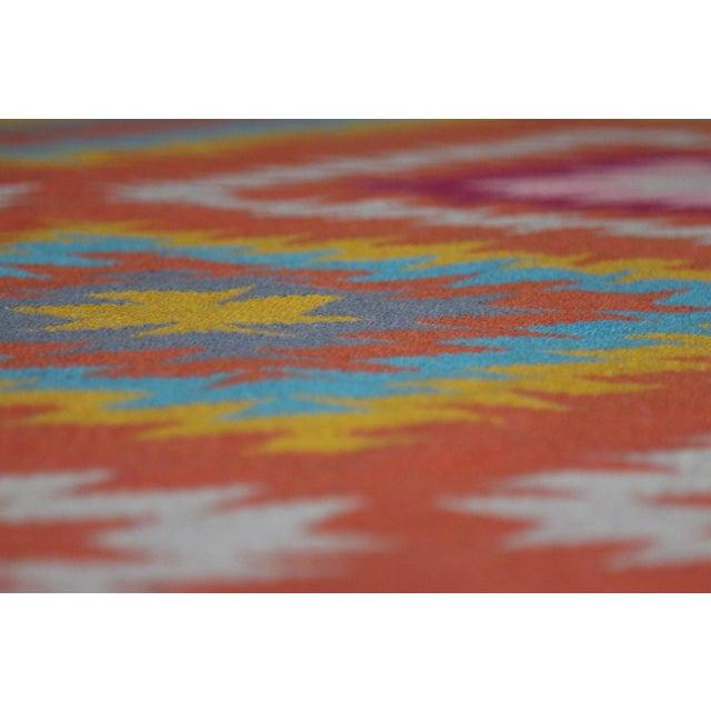 Rainbow Flat Weave Diamond Turkish Wool Kilim Rug - 4' x 6' - Image 11 of 12