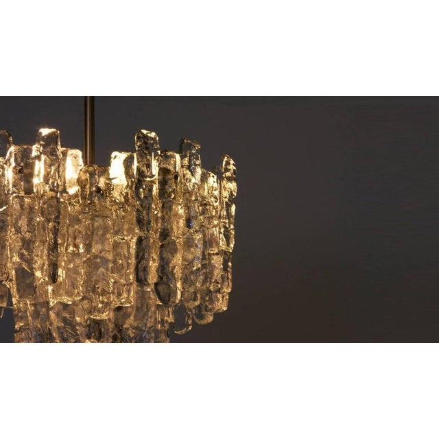 J.T. Kalmar Kalmar Austria Icicle Ice Glass Viennese Chandelier from the 1960s For Sale - Image 4 of 6