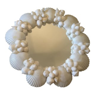 Vintage Shell Wall Mirror For Sale