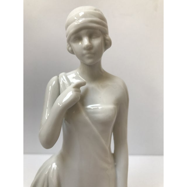Art Deco Flapper Woman Statue - Image 4 of 8