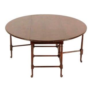 Baker Furniture Mahogany Drop Leaf Cocktail Table