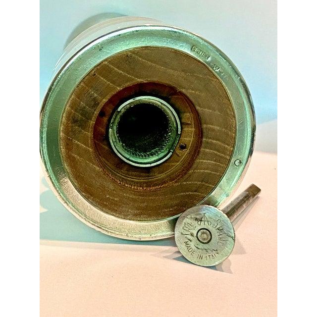 Metal Tre Spade Italian Polished Salt & Pepper Mill For Sale - Image 7 of 12