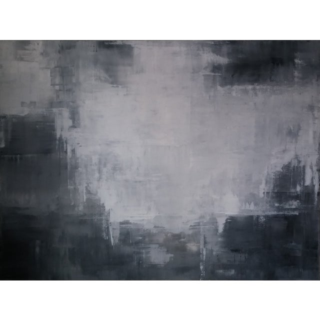"""Grey Shadows"" Abstract Art by Kris Gould - Image 1 of 5"
