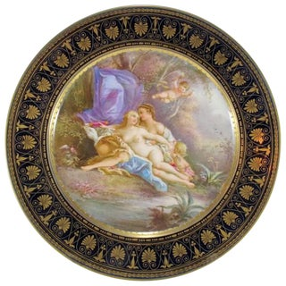 19th Century French Sevres Porcelain Plate For Sale