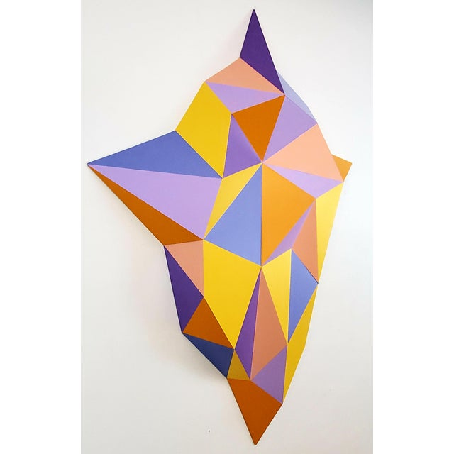 Beautiful wall sculpture made with wood, acrylic paint. The sculpture is very light, hangs on a sawtooth like a painting....