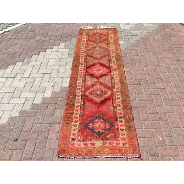 This gorgeous vintage Turkish kilim rug was made of WOOL and COTTON in 1940`s. It`s professionally cleaned and ready to be...