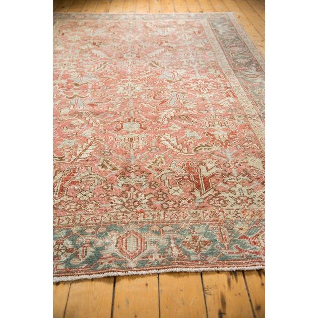 "1940s Vintage Distressed Heriz Carpet - 6'8"" X 9'6"" For Sale - Image 5 of 13"