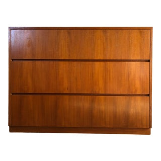 Vintage Mid Century Modern Danish Style Handcrafted Dresser / Chest of Drawers. For Sale