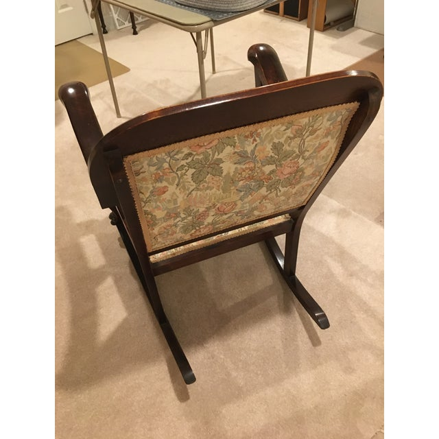 1900 - 1909 20th Century Antique Rocking Chair For Sale - Image 5 of 7