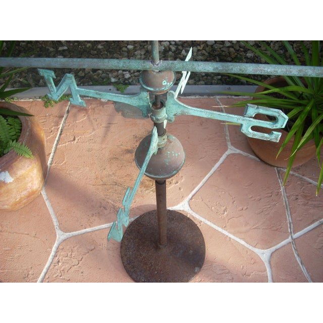 Rustic Late 19th Century Antique Horn Blowing Angel Weathervane For Sale - Image 3 of 11
