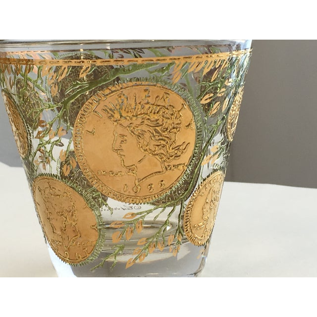 Culver Gold Liberty Coin Glasses - Set of 8 - Image 3 of 7