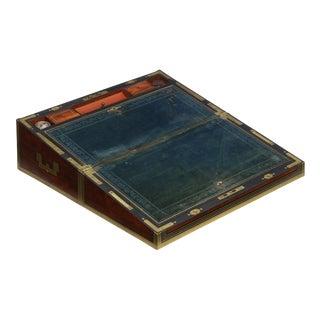 19th Century English Victorian Mahogany Writing Slope Desk W/ J. Bramah Locks For Sale