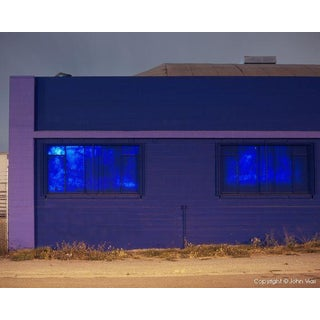 "Contemporary Night Photograph ""Painted Windows"" by John Vias For Sale"