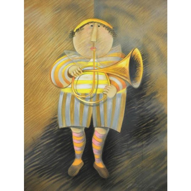"""Signed & Numbered Lithograph """"French Horn Player"""" by Graciela Rodo Boulanger - Image 3 of 9"""