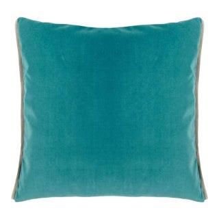 Varese Ocean & Duck Egg Velvet Cushion For Sale