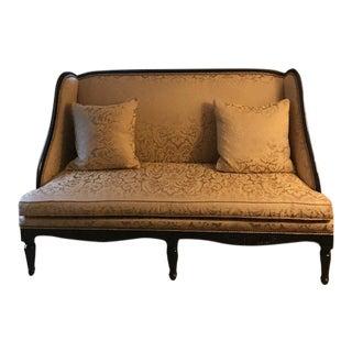 Modern Lillian August Gold Settee For Sale