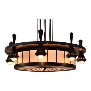 Winkelman and Van der Bijl Art Deco Chandelier