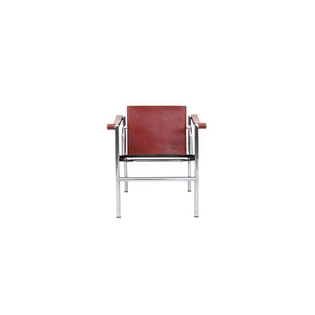 Pair of iconic lounge chairs designed by Le Corbusier and produced by Cassina. Chairs are signed and stamped. These are...