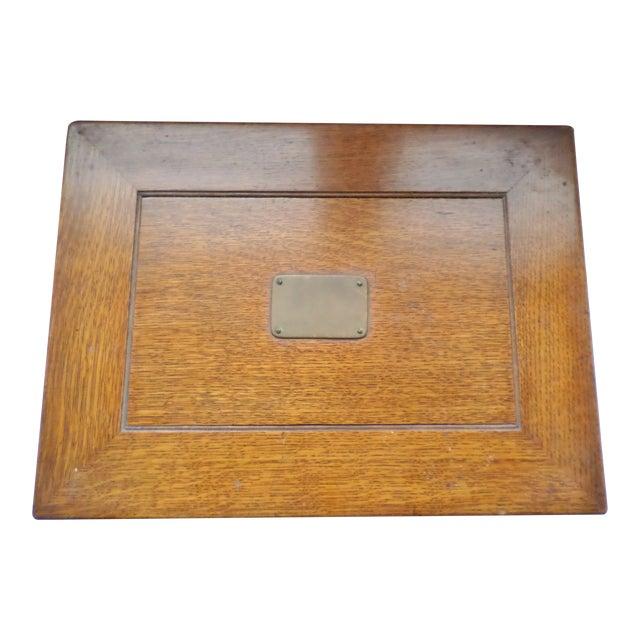Antique Golden Oak Silver Chest /Service Box for Flatware For Sale