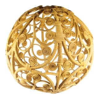 Mid-Century Wicker Sphere For Sale