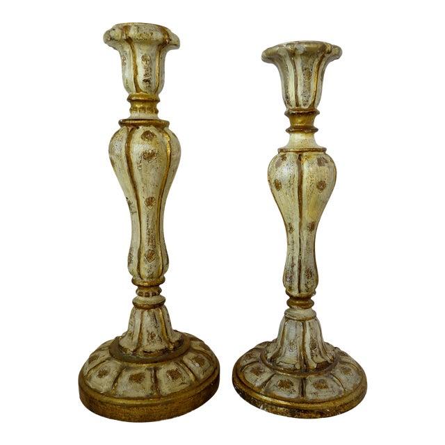 Florentine Candlesticks, Set of 2 For Sale