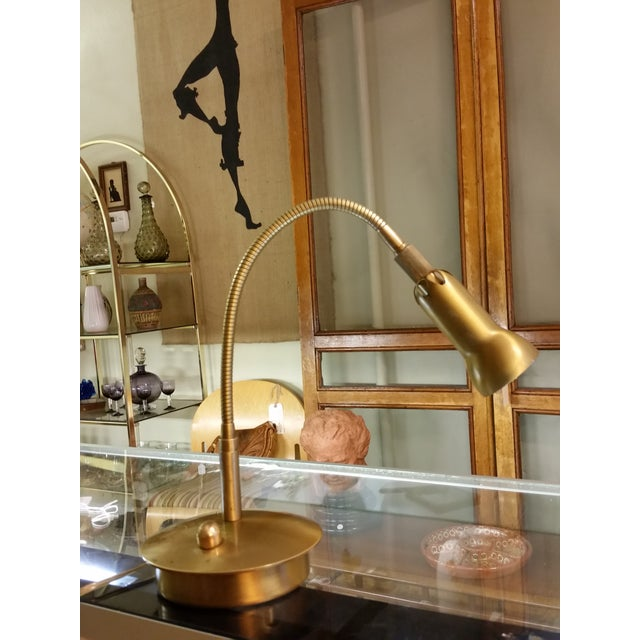 Levenger Brass Gooseneck Reading Lamp - Image 2 of 7