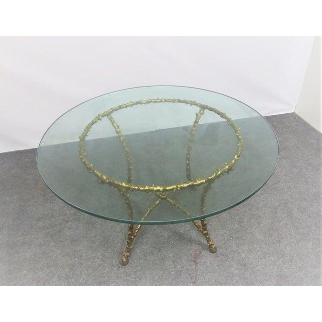 Modern Maison Bagués Style Gilt Tree Form Center Table For Sale - Image 3 of 6