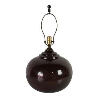 1980s Postmodern Spherical Ceramic Table Lamp For Sale