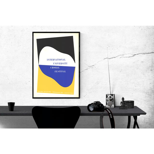 Modern Charles Hinman-International University Choral Festival-1965 Serigraph-SIGNED For Sale - Image 3 of 4