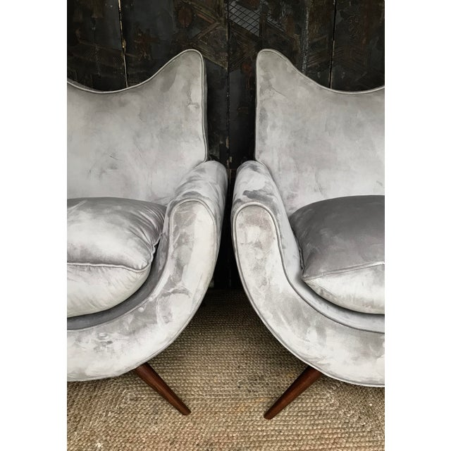 Mid-Century Modern Chic Lounge Chairs in the Manner of Jean Royere - a Pair For Sale - Image 3 of 13