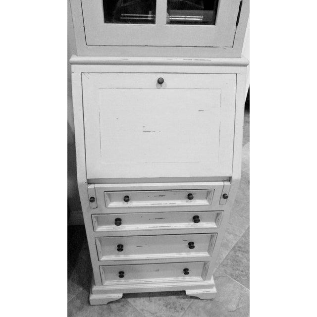 Cottage Narrow White Secretary Desk For Sale - Image 4 of 8